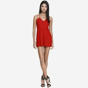 Express Red Strappy Romper
